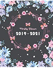 """2019-2021 Monthly Planner: Bloom Cover, Daily, Monthly Calendar 36 Months Calendar Agenda Planner with Holiday 8"""" x 10"""""""
