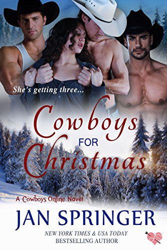 Cowboys for Christmas: A Romance Menage Western Contemporary (Cowboys Online Book 1)