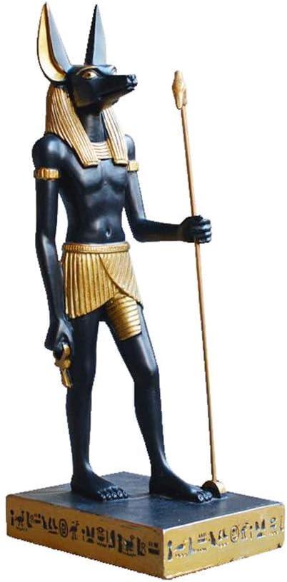 LIUSHI Egyptian Realm Figurine Statue, Anubis Ornaments Ancient Egypt Egyptian God Statue Horus Patron Saint Souvenirs,6 9.5 23cm