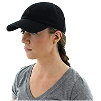 adidas Womens Saturday Relaxed Cap, Black/Black, One Size