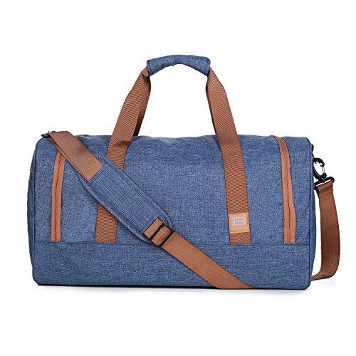 BAGSMART Travel Duffel Bag Large Weekender Bag Carry-on Luggage with Shoe Bag