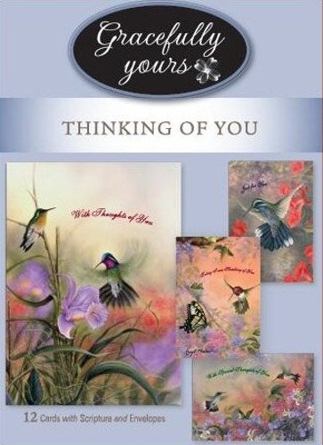 Gracefully Yours Thinking of You Simpler Times Greeting Cards featuring Larry Martin, 12, 4 designs/3 each with Scripture Message