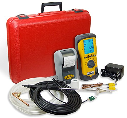 UEi Test Instruments C255KIT-N LL EOS Industrial Combustion Analyzer Kit, 10 ppm H2 Compensated Long Life Sensor NIST-Calibrated (Ll Combustion Analyzer)