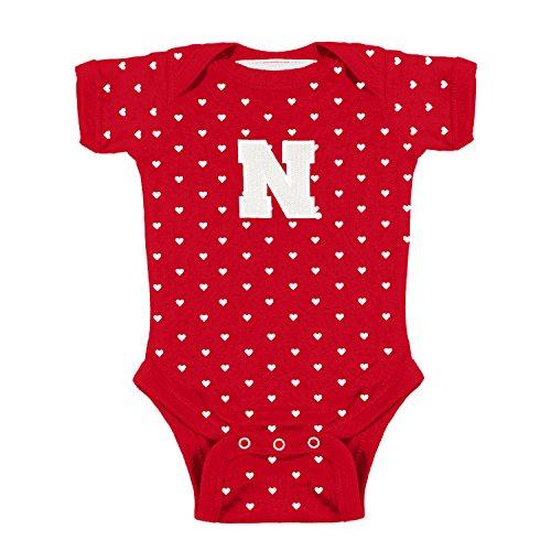 Nebraska Cornhuskers NCAA College Newborn Infant Baby Heart Creeper (12 Months)
