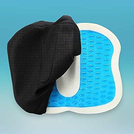 Cuscino Antidecubito con rivestimento antiscivolo Cuscino Ortopedico Gel Set Di Cuscini Sedile e Schienale Lombare e Sedile KEAR Cuscino Cuscino Lombare Portatile Confortevole Cuscino Cuscini