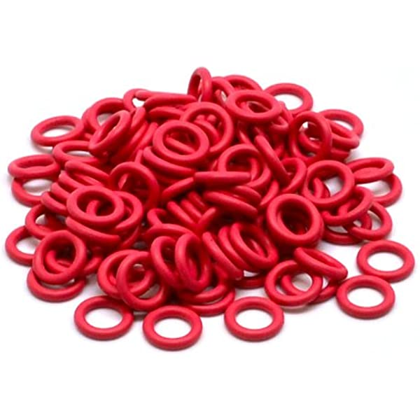 ForHe 120Pcs Red Keycaps Rubber O-Ring Switch Dampeners for Cherry MX Keyboard Dampers