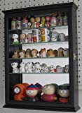 Black Finish Small Wall Curio Cabinet Display Case Home Accents For Figurines