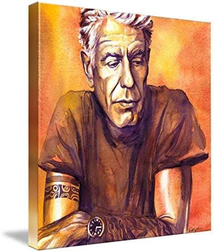 Imagekind Canvas Wall Art Print Entitled Orange Anthony Bourdain