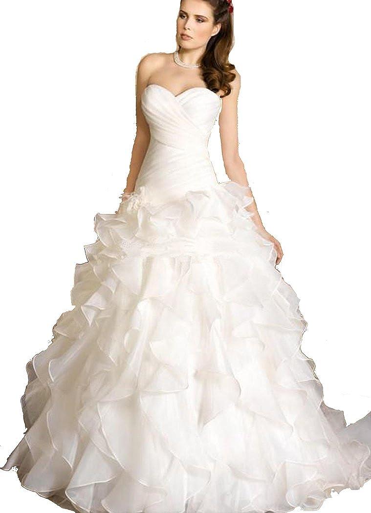 Michawa Sweetheart A Line Plus Size Sexy Lace Up Wedding Dresses