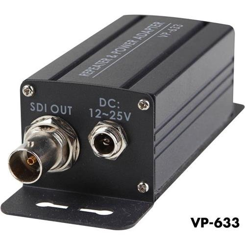 Datavideo VP-633 3G/HD/SD-SDI Repeater with DC Power Input, 328' Extends SDI Signal by Datavideo