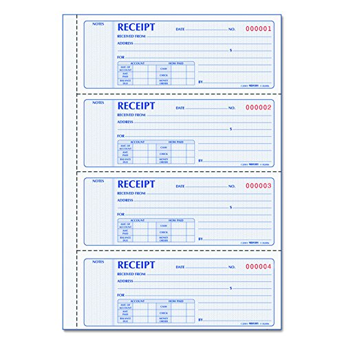 Rediform Prestige Duplicate Carbonless Softcover Money Receipt Books (Rediform Business Receipt Book)
