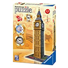Ravensburger Big Ben 3D Puzzle Includes Real-Working Clock (216 Piece)