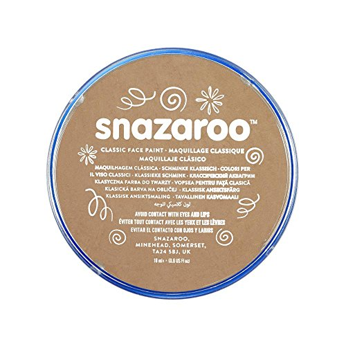 Beige Face (Snazaroo Classic Face Paint, 18ml, Light Beige)