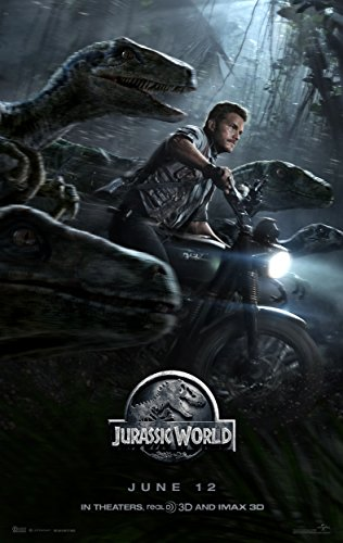 Jurassic World (2015) Movie Poster 24 x 36 Inches , Glossy Finish (Thick): Chris Pratt, Bryce Howard Dallas ()