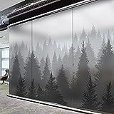 YQ WHJB Bathroom privacy film,No glue Static decorative films,Forest Waterproof Pvc Anti-uv Non-adhesive heat control Sticker Window decal -gray 80x120cm(31x47inch)