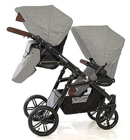 Capazos+sillas+sillas de coche+accesorios Carro gemelar 3en1 ISOFIX