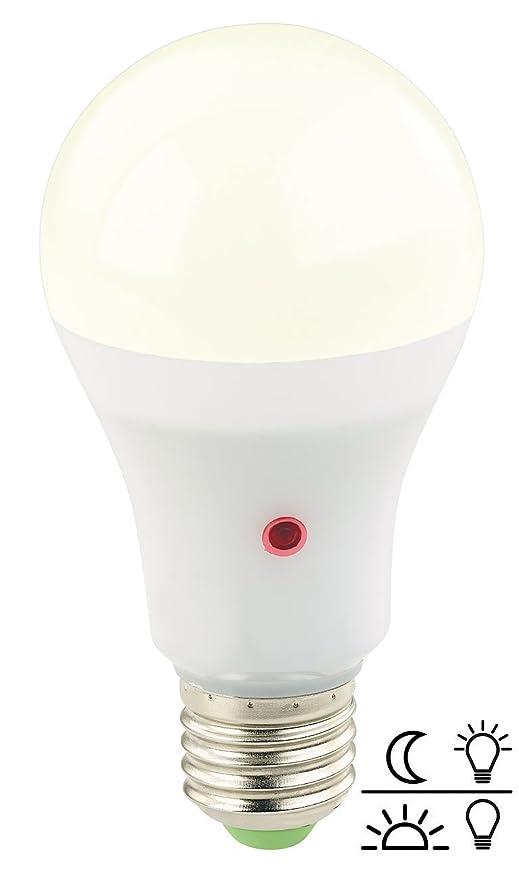 Bombilla E27 LED con sensor día/noche 12W (Luz cálida)