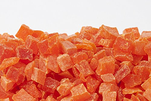AIVA Natural Dried Papaya Dices, Low Sugar, Unsulphured, 2 lb by AIVA (Image #1)