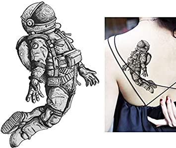 Astronauta Tattoo falso tatuaje Tattoo Desechables para cuerpo ...
