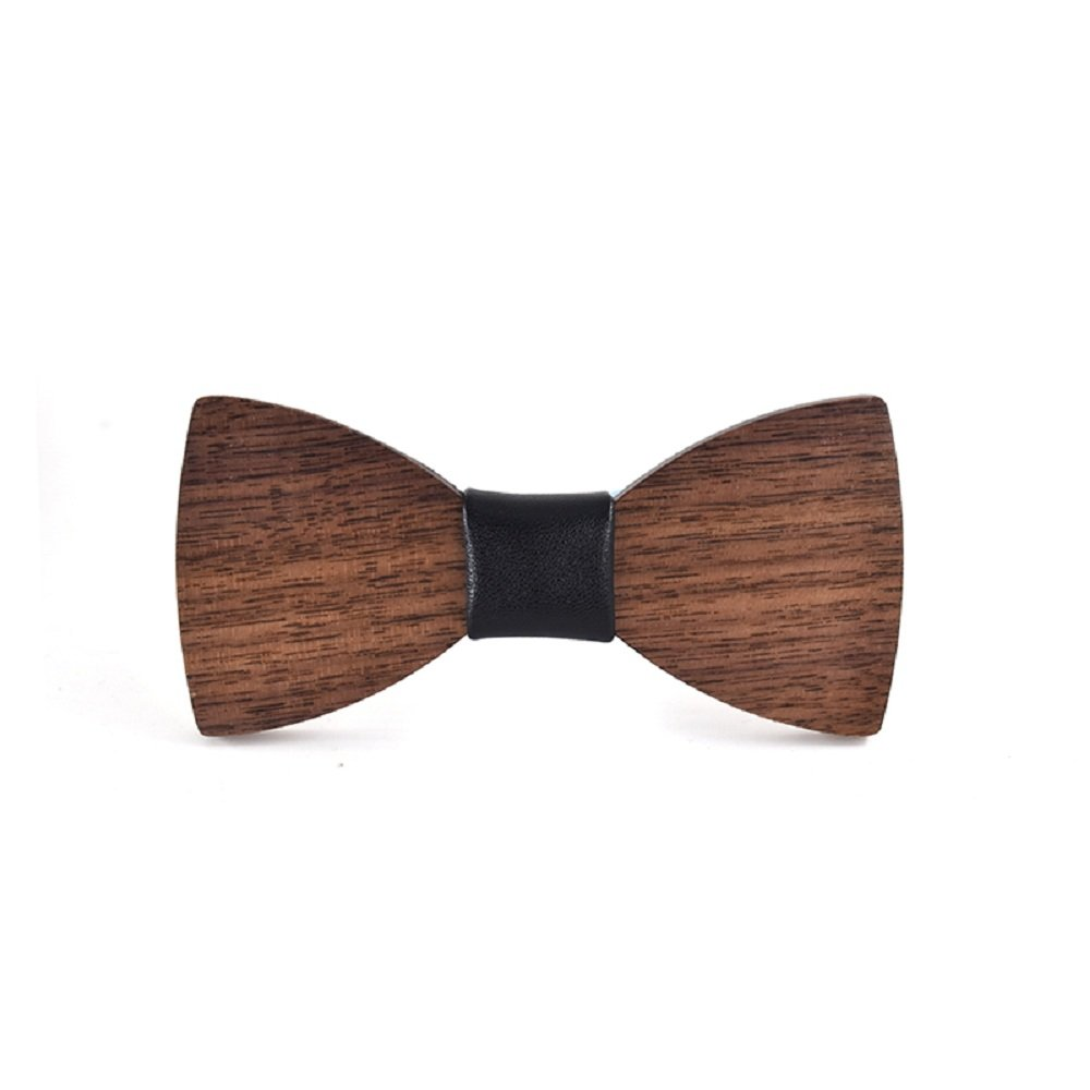 Amzchoice Handmade Boy's Bow Tie Kid's Wooden Bowtie with Gift Box for Shows or Parties