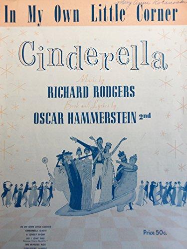 In My Own Little Corner, Cinderella Sheet Music, 1957 (In My Own Little Corner Sheet Music)