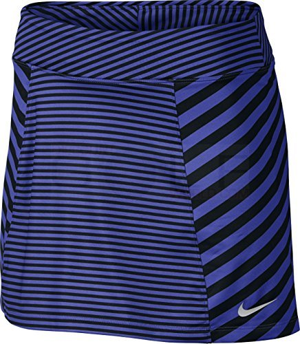Nike Precision Knit Print 2.0 Golf Skort 2017 Womens Paramount Blue/Blue/Metallic Silver Small (Nike Knit Skirt)