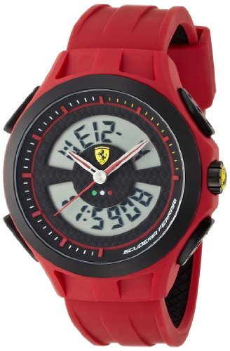 Scuderia Ferrari Gents SF102 Red Digital 'Lap Time' Watch 0830019