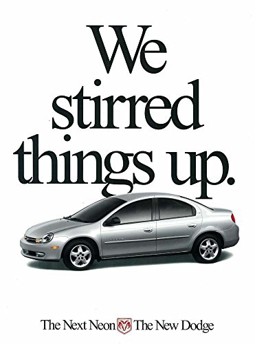 1999 2000 Dodge Neon Sales Brochure Literature Book Options Colors Specification
