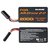 2x Masione 20C 11.1V 2.0Ah Upgrade Battery for Parrot Ar.drone 2.0 Power Edition Helicopter