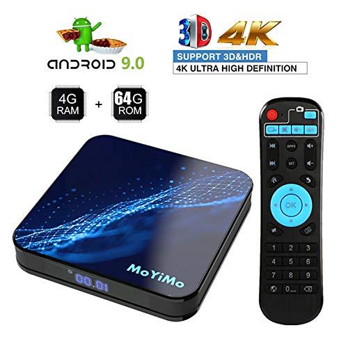 WXJHA Upgrade Android 9.0 TV Box 4GB RAM 64GB ROM Amlogic Quad-Core 64 Bits Dual Wifi 2.4G/5G USB 3.0/H.265 HD 3D 4K…