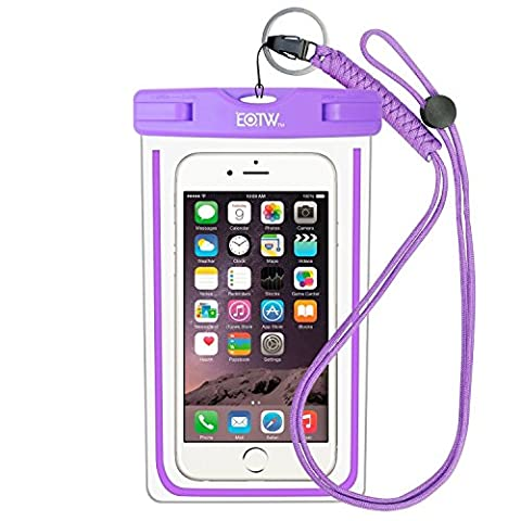 Waterproof Phone Case: EOTW Water Proof Phone Pouch Pocket Dry Bag with Lanyard For iPhone 6 6S Plus 5 5S 5C SE Samsung Galaxy S4 S5 S6 S7 Edge Blu LG Moto NOKIA HTC For Diving Surfing Skiing - (Cover De Samsung Galaxy 5s)