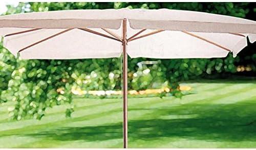 Parasol hojalata estructura de madera de tela poliéster mt 3 x 4: Amazon.es: Jardín
