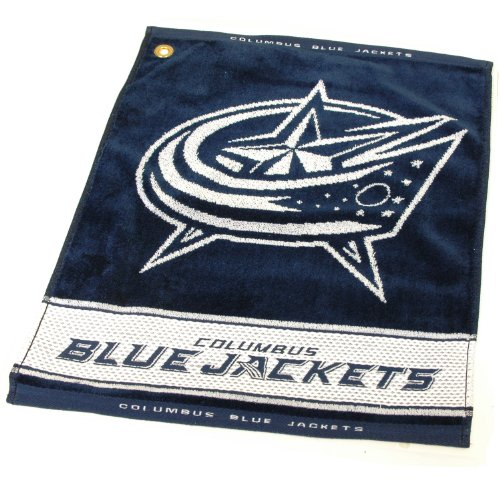Team Golf NHL Columbus Blue Jackets Jacquard Woven Golf Towel, 16