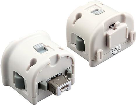 2 X Adaptador Wii Motion Plus, Pekyok XW06 Wii Remote Plus Sensor ...
