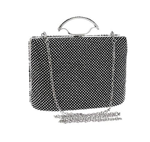 Main Dames Pochette Sac Black Soirée De Banquet Portable à Robe Diamant Sac qFvvfT