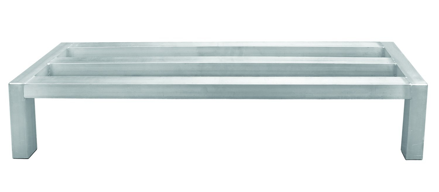 Update International DNRK-2036 Aluminum. Dunnage Rack 20in x 36in,silver