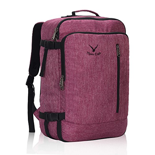On Lightweight Carry - Hynes Eagle 38L Flight Approved Weekender Carry on Backpack Red Violet
