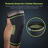 Knee Brace Support Compression Sleeves, Sable 1 Pair Wraps Pads for Arthritis, ACL, Running, Biking, Basketball Sports, Joint Pain Relief, Meniscus Tear, Injury Recovery, 2 Pack