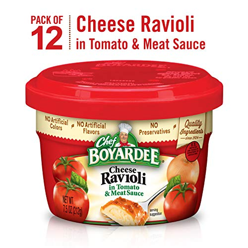 Chef Boyardee Cheese Ravioli, 7.5 Oz. Microwavable Bowl (Pack of 12) (Best Canned Vegetarian Chili)