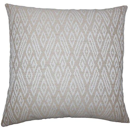 The Pillow Collection EURO-D-15757-JUTE-V45P31 Gaphna Ikat Bedding Sham, Euro/26