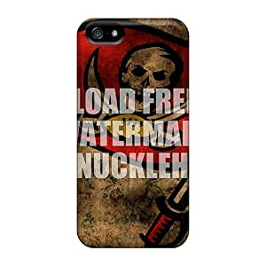 Protector Hard Phone Cases For Iphone 5/5s With Customized Vivid Tampa Bay Buccaneers Pattern ErleneRobinson