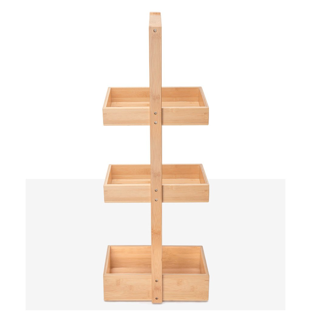 On Sale Tlmy Bamboo Frame Bathroom Storage Rack Folder