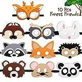 CiyvoLyeen Forest-Friends Animals Felt Masks 10 pcs