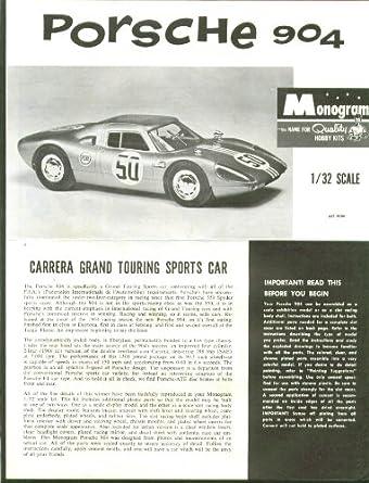 Porsche 904 Monogram Model Kit Instructions 1964 at Amazon's