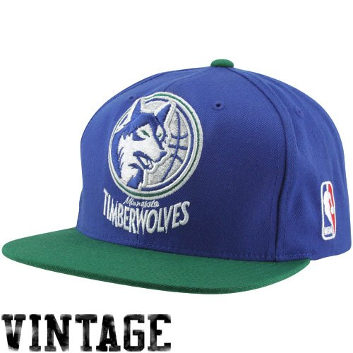 774015a594298 Image Unavailable. Image not available for. Color: NBA Mitchell & Ness  Minnesota Timberwolves XL Logo Two Tone Snapback Hat ...