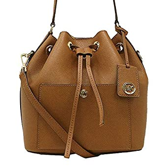 b0ef6acdebc985 Image Unavailable. Image not available for. Color: MICHAEL Michael Kors  Greenwich Medium Bucket Leather Crossbody Bag ...
