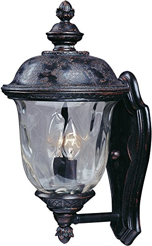 Maxim Lighting 3422WGOB Carriage House DC 2-Light Straight Mount Outdoor 16-Inch Wall Lantern, Oriental Bronze Finish ()