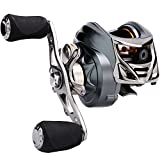 Sougayilang Low Profile Baitcasting Fishing Reel 12 LB Carbon Fiber Drag, 11+1 BB Casting Reel,Dual Brakes Baitcaster Fishing Reel- New 2018!