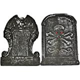 """Set of 2 14.5"""" Asst. Halloween Tombstone, Props, Decorations and Accessories"""