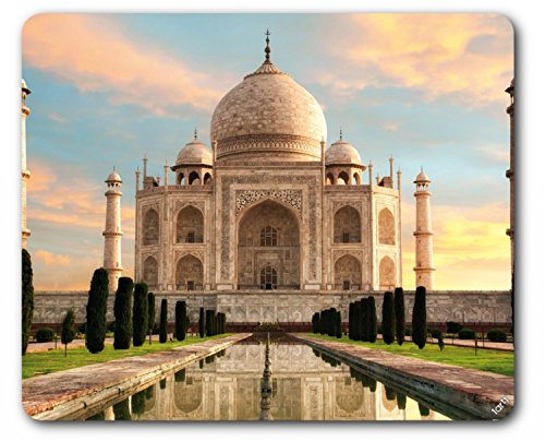 1art1 Taj Mahal Mouse Pad - The Crown of Palaces in The Morning Sun (9 x 7 inches)